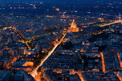 View over Paris taken from the Tour Montparnasse Tower Royalty Free Stock Images