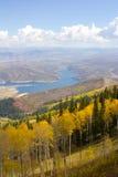 View over Park City, Utah. View of the Jordanelle Reservoir near Park City, Utah Stock Images