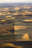 View over patchwork of farms in autumn, Palouse Valley, eastern Stock Photo