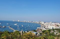 View over Pattaya during a sunny day royalty free stock images