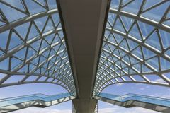 Details of the rooftop of the pedestrian bridge in Tbilisi, Georgia. royalty free stock image