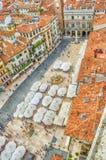 View over Piazza delle Erbe (Market's square), Verona Stock Photo