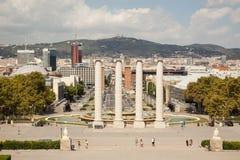 View over Placa de Espana in Barcelona, Spain. View over Placa de Espana in Barcelona ,Spain at a sunny day Stock Photography