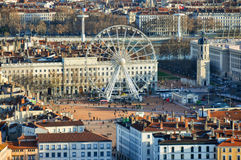 View over Place Bellecour, Lyon, France Royalty Free Stock Photos