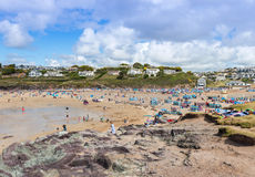 View over Polzeath Beach Royalty Free Stock Photography