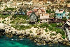 View over Popeye village Royalty Free Stock Image