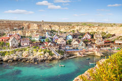 View over Popeye village, Malta Royalty Free Stock Images