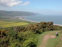 View over Porlock Bay in Exmoor Royalty Free Stock Image