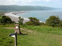 View over Porlock Bay in Exmoor Stock Photo