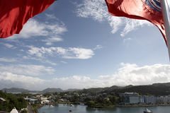 View over the port of castries Royalty Free Stock Image