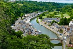 Harbour at Port Jerzual in Dinan Brittany royalty free stock image