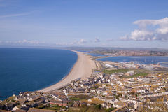 View over Portland,Weymouth and Chessel Beach Stock Photography