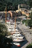 View over Portofino, old Ligurian town Royalty Free Stock Photography