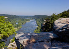View over Potomac River at harpers ferry Royalty Free Stock Photo