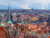 View over Prague. Looking over Prague from the Castle district Royalty Free Stock Image