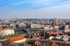 View over Prague. Lovely view over capital city of the Czech Republic - Prague with beautiful summer weather Royalty Free Stock Images