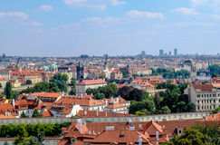 View over Prague from Rampart Garden - Prague Stock Images