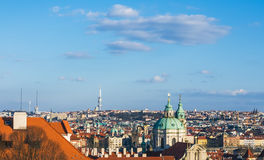 The view over Prague rooftops Stock Photography