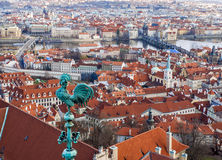 The view over Prague from the Saint Vitus Cathedral Stock Image