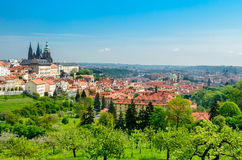 View over Prague from Strahov Monastery Royalty Free Stock Photos