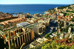 View over principality monaco, monte carlo Stock Photo