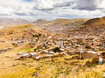 View over Puno, Bolivia Stock Photo