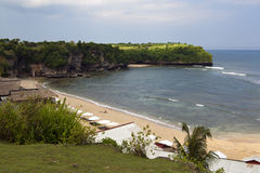 View over quiet beach Stock Image