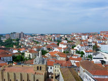 View over the red european roofs Royalty Free Stock Photo