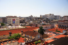 View over the red roofs of Havana Stock Photos