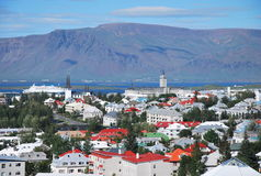 View over Reykjavik Royalty Free Stock Photos