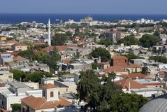 View over Rhodes Old Town Royalty Free Stock Photo