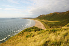 View over Rhossili Bay