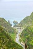 View over Ribeira da Janela to the Atlantic Ocean Stock Photography
