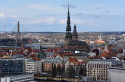 View over Riga old town and river Royalty Free Stock Photography