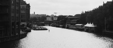 View over River Avon from Bristol Bridge Royalty Free Stock Photography