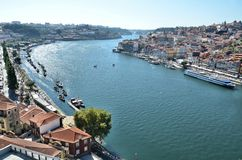 View over the river Douro and the city of Porto Stock Image