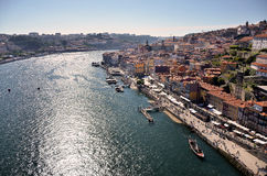 View over the river Douro and the city of Porto Royalty Free Stock Image