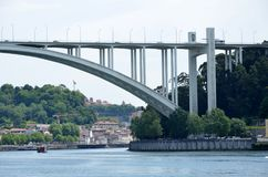 River Douro and the famous Arrabida bridge Royalty Free Stock Image