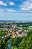 View over the river Elbe to Dresden, Germany.  Royalty Free Stock Photo