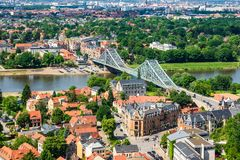 View over the river Elbe to Dresden, Germany.  Stock Photography