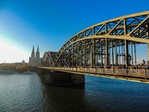 Bridge overlook Cologne royalty free stock photography