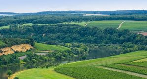 View over river Moezel or Mosel Royalty Free Stock Photo