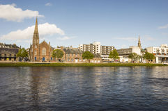 View over the River Ness. In Inverness, the capital city of Highland, Scotland Stock Images