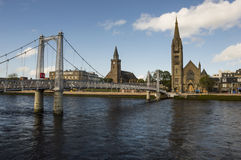 View over the River Ness. In Inverness, the capital city of Highland, Scotland Stock Photo