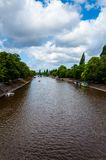 View over River Ouse and bridge in the city of York, UK Stock Photos