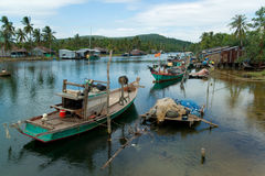 View over a river in Phu Quoc (Vietnam) Royalty Free Stock Images