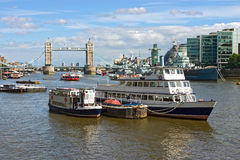 View over the River Thames. (London, UK Stock Image