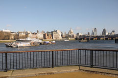 River Thames and Saint Pauls Cathedral Stock Photography