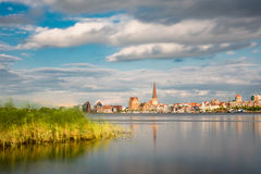 View over the river Warnow to Rostock Royalty Free Stock Images