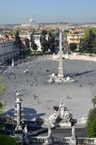 View Over Rome From The Piazza Del Popolo, Italy Stock Photos
